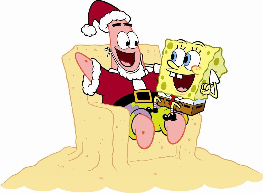 bob esponja patricio navidad