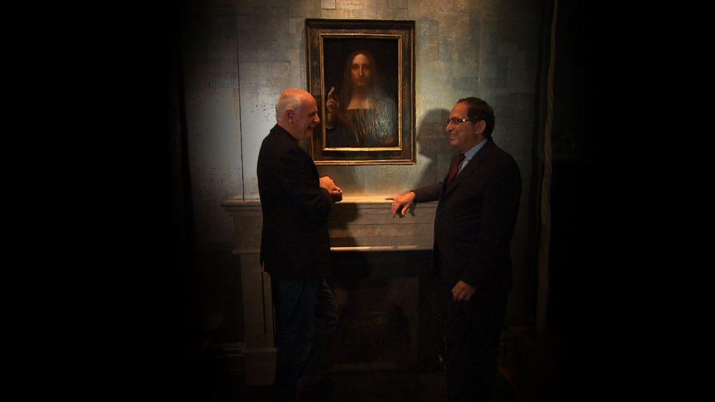 Nick and art dealer