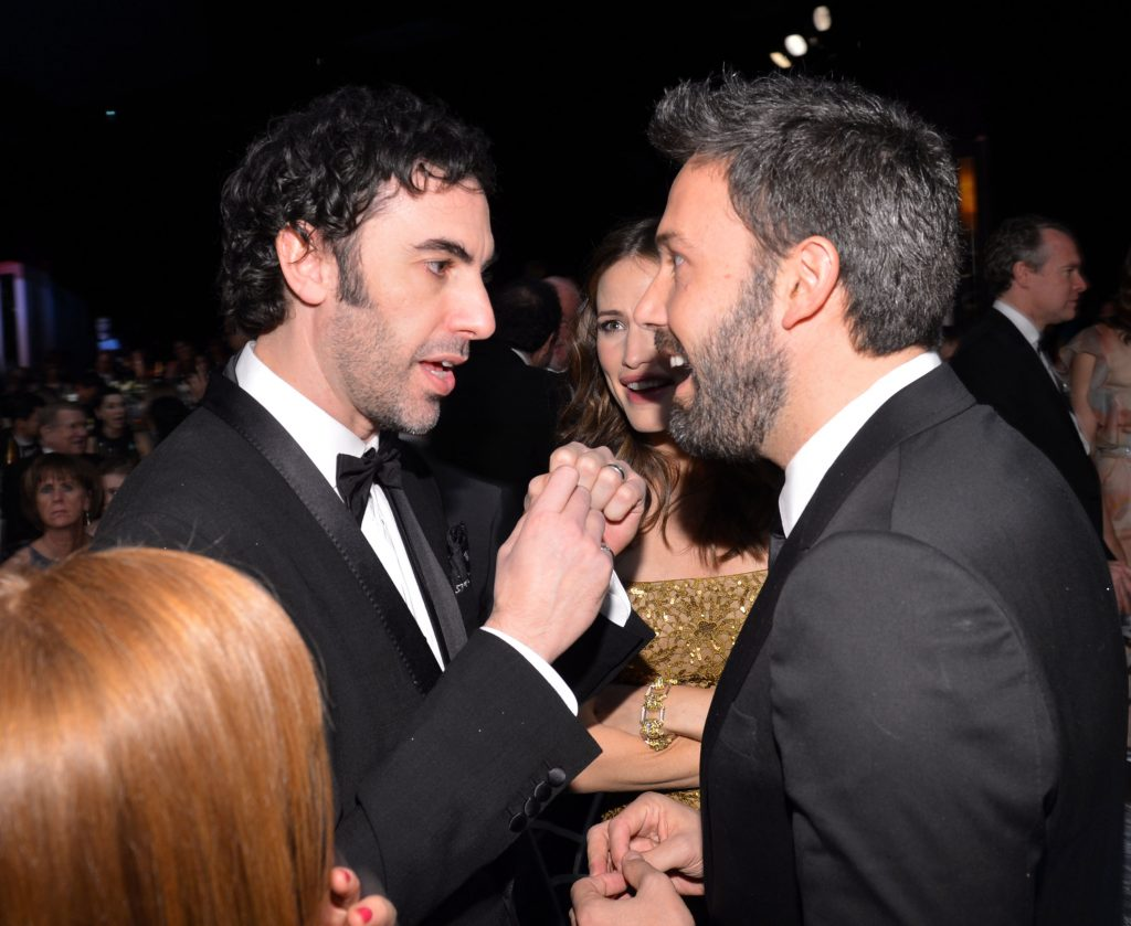 Sacha Baron Cohen and Ben Affleck
