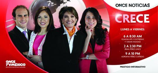 Cambio de programación en Once TV México