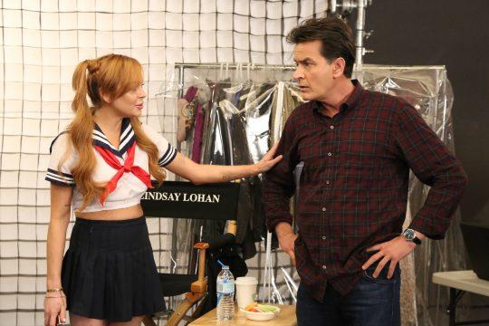 Lindsay Lohan y Charlie Sheen juntos en TBS veryfunny