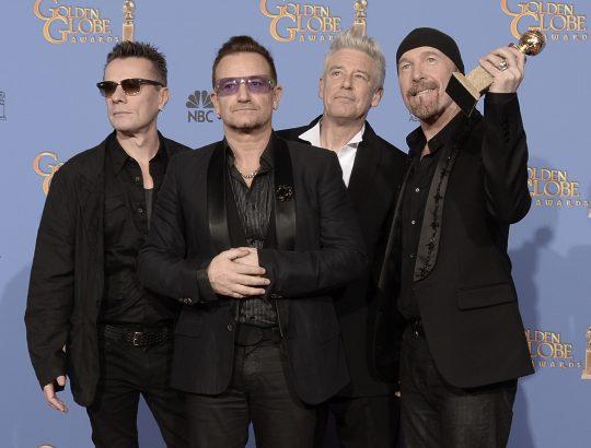 Larry Mullen Jr., Bono, Adam Clayton y The Edge de U2