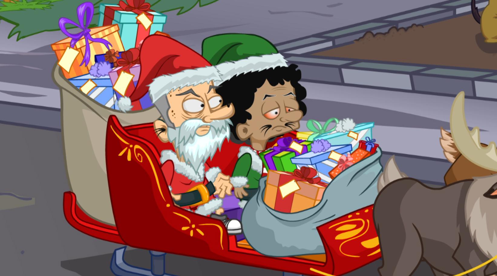 ¡Atropellan a Santa Claus! epecial navideño MTV La Familia del Barrio