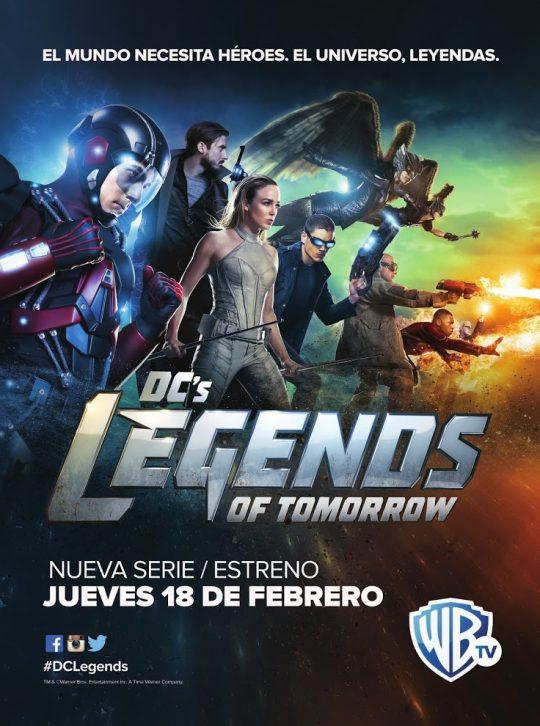 poster estreno serie legends en warner channel