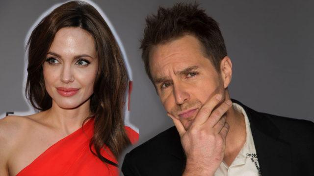 Angelina Jolie y Sam Rockwell
