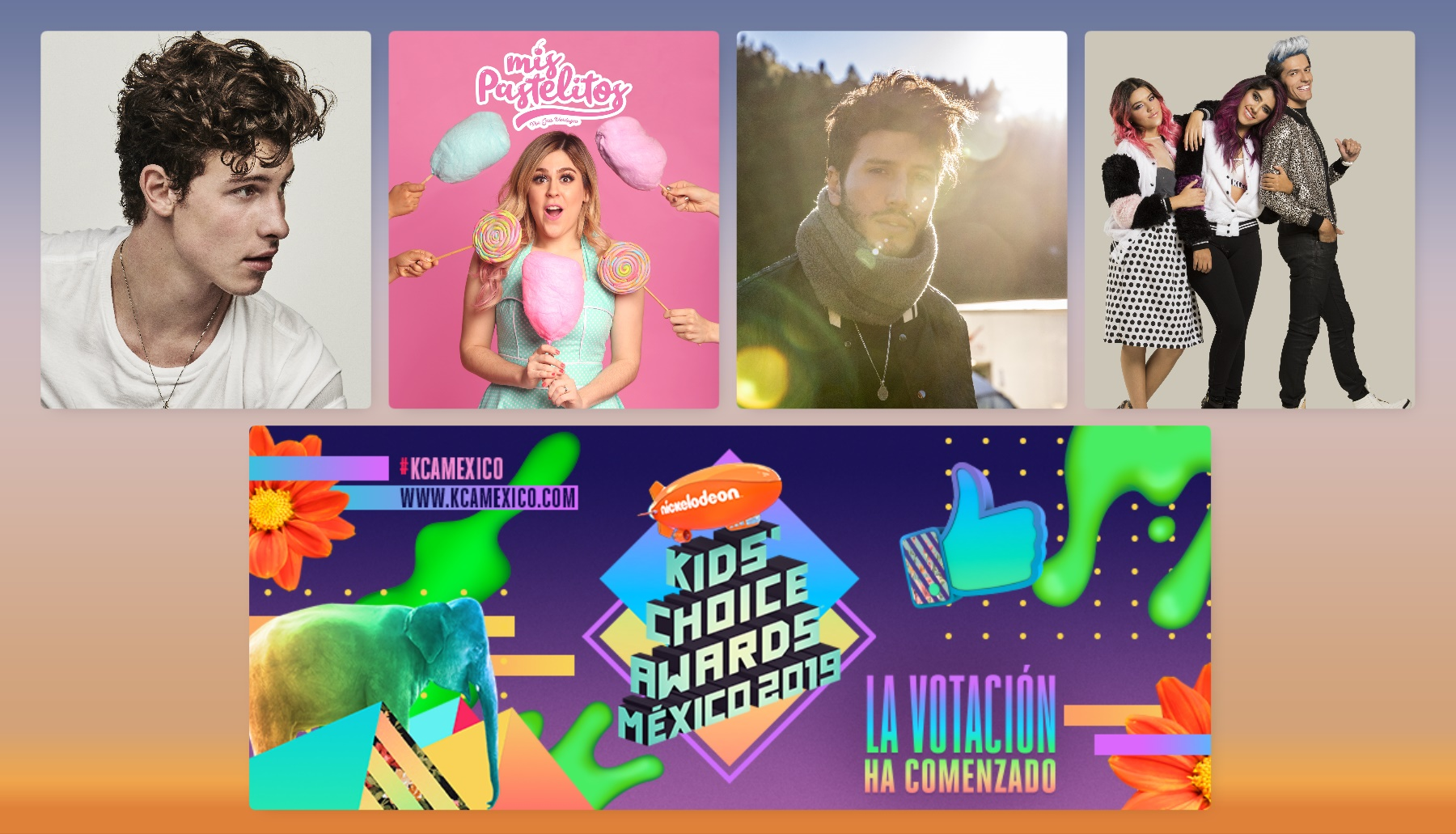 Nominados Kids´ Choice Awards México 2019