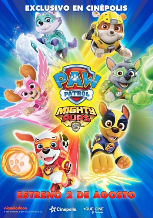 poster pelicula paw patrol mighty pups