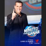 """Telemundo estrena """"Minuto para ganar"""", a partir del lunes 23 de marzo compartiendo horario con Exatlón"""